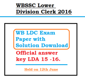 WBSSC LDC 2020 Solved Question Paper Answer Key Download Cut Off