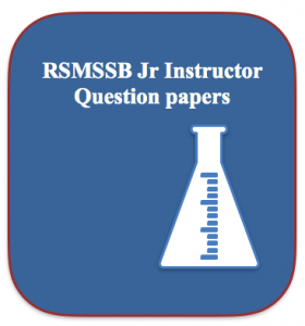RSMSSB Junior Instructor Previous Question Paper Download (Solved)