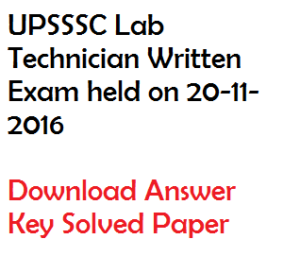 UPSSSC Laboratory Technician Solved Paper 2020 Download Answer Key