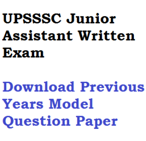 UPSSSC Junior Assistant Clerk Previous Year Model Question Paper Download