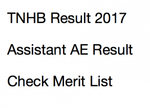 TNHB Result 2020 Assistant AE Junior Technical Cut Off Marks