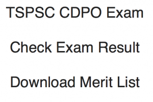 TSPSC CDPO Result 2020 Cut Off Marks Merit List Publishing Date
