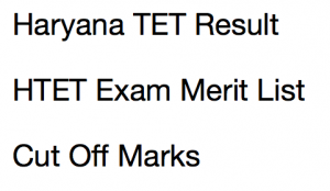 HTET Cut Off Marks 2021 Expected Level 1 2 3 Result Primary TGT PGT