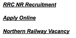 Northern Railway Apprentice Vacancy 2020 RRC NR Recruitment 3162 Post