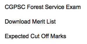 CGPSC Forest Service Result 2021 Cut Off Marks Merit List