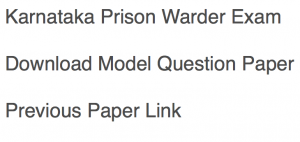 karnataka prison warder previous paper jail warden jailor jailer question paper download pdf solved years model practice set sample mcq questions answers