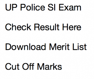UP Police SI Result 2021 Cut Off Marks Re Exam Merit List Date PRPB