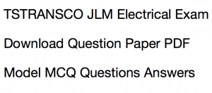 tstransco junior lineman previous years question paper download solved old years question pdf solution aptransco electrical jlm model sample solved questions answers pdf set practice