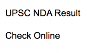 UPSC NDA Result 2021 Cut Off Marks Check Online