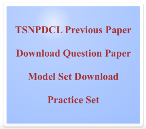 TSNPDCL Junior Lineman Previous Years Question Paper Download PDF