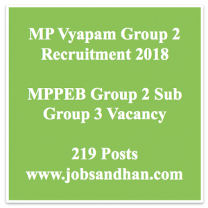 mp vyapam recruitment 2018 group 2 sub group 3 junior supply officer fishery inspector vacancy application form online madhya pradesh mppeb