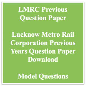 lmrc previous paper download solved pdf previous years question paper old solved set lucknow metro rail question answers