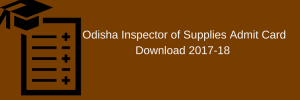 OSSC Supply Inspector Admit Card 2020 Main Exam Date ossc.gov.in Download