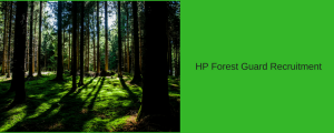 HP Forest Guard Recruitment 2020 for 465 Post in Himachal Pradesh