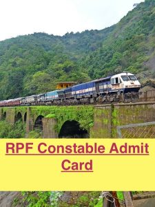 rpf constable admit card 2018 download exam date railway protection force sipahi