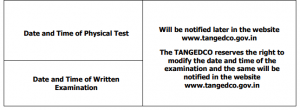 Tangedco Gangman Hall Ticket 2020 TNEB Physical Test Exam Date Call Letter