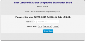 Bihar Polytechnic Result 2020 DCECE Rank Card 1st 2nd Counselling Check