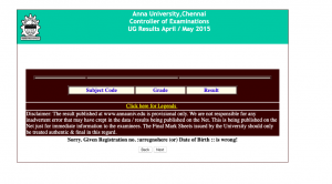 Anna University Results 2021 Download