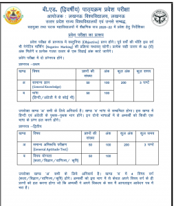 UP BEd JEE Result 2021 Cut Off Marks lkouniv.ac.in ...