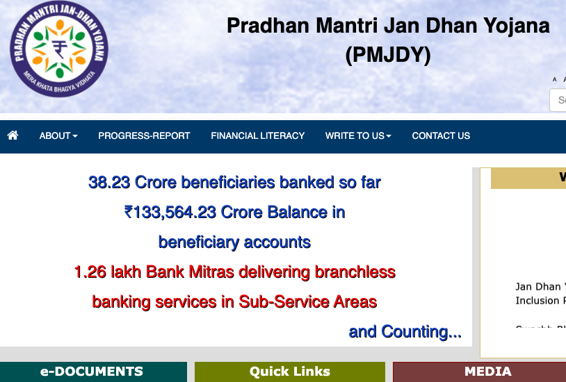 PM Jan Dhan Yojana Status 2021 Beneficiary Account Payment PMJDY Status