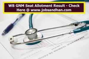 WB GNM Nursing Seat Allotment 2021 ANM College Allotment List Download