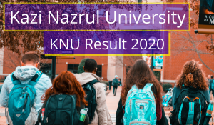 KNU Result 2021 Kazi Nazrul University Semester Exam Result knu.ac.in