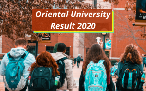 Oriental University Result 2021 Indore Semester Exam oui.edu.in
