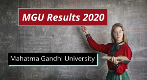 MGU Results 2021 (OUT) MG University Kottayam Degree Results mgu.ac.in