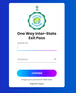 wb lockdown pass apply online e-pass registration west bengal exit entry pass
