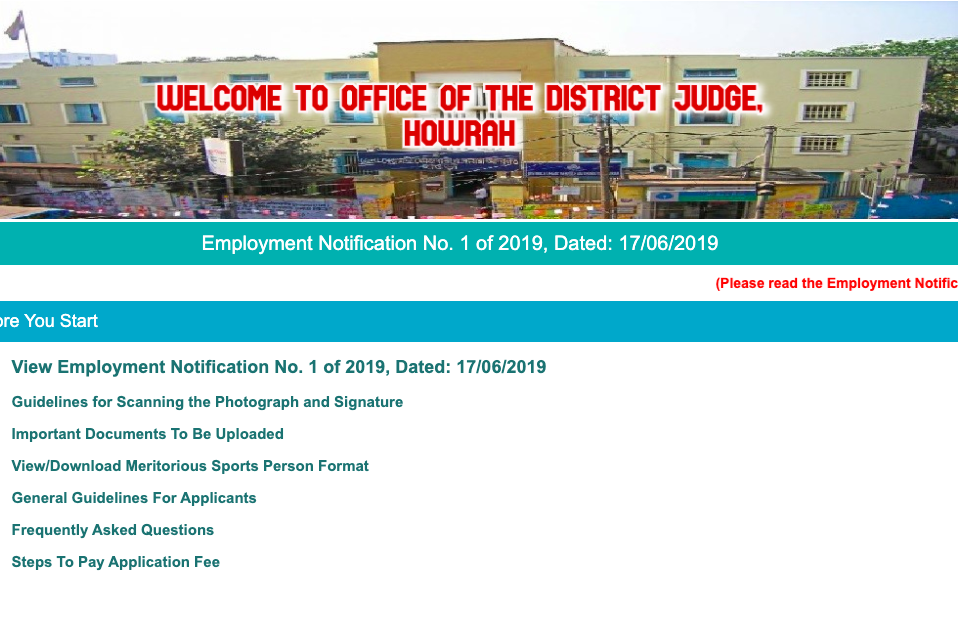 Howrah District Court Result 2020 LDC, Group D Exam Cut Off Marks