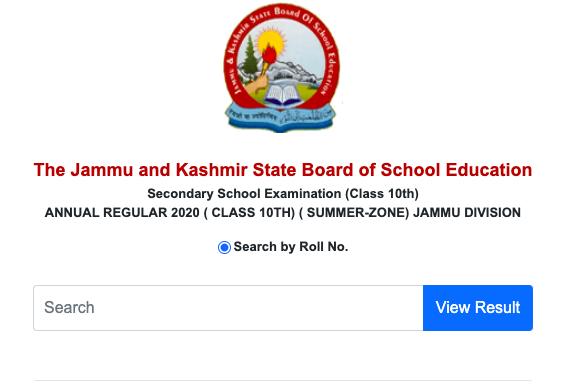 JKBOSE 8th Class Result 2020 Date (out) jkbose.ac.in Jammu & Kashmir Division