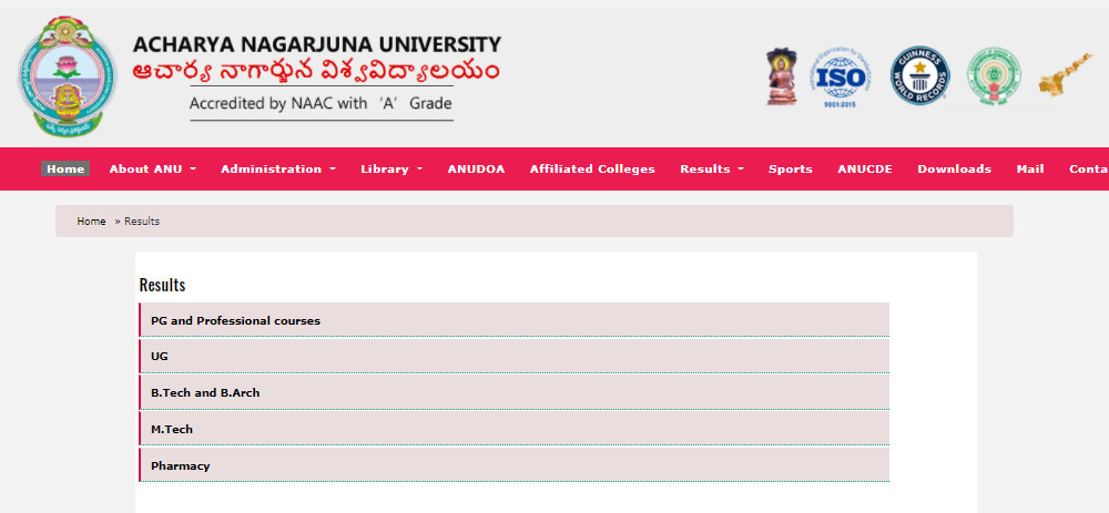 ANU Results 2021 {Out} 1st 2nd 3rd 4th 5th 6th semester Results nagarjunauniversity.ac.in, How to check online Acharya Nagarjuna University Examination Result 2021,