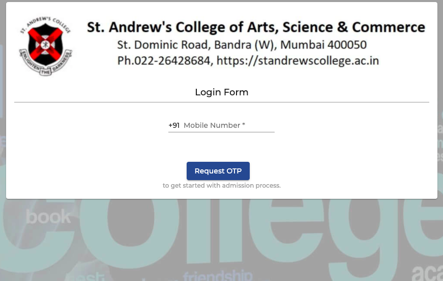 St Andrews College Merit List 2021 Cut-Off List fybcom fyjc