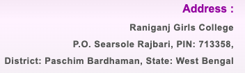 Raniganj Girls' College Merit List 2021 Admission BA B.SC B.COM Today any more important news visit our website