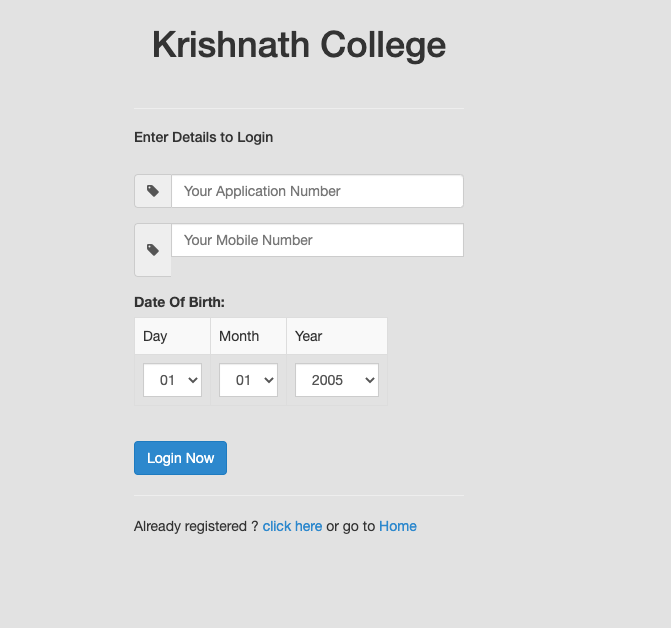 KN College Merit List 2021 Final list {Out} - Krishnath College 22 August