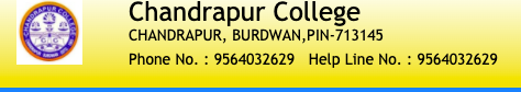 Chandrapur College Merit List 2021 BA BSC Admission Honours General