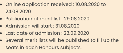 Ananda Marga College admission schedule 2021 Important Dates for Admission Published here
