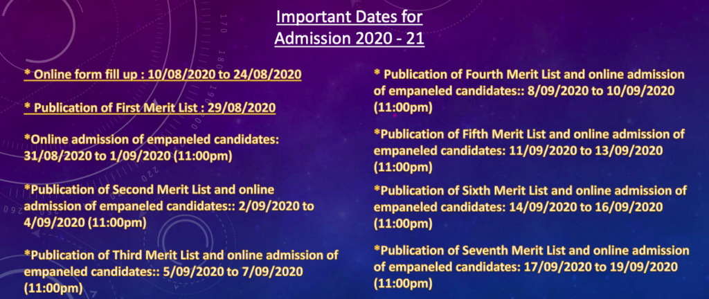 Sitaram Mahato Memorial College Merit List 2020 Admission Important Dates