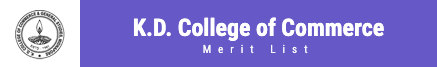 KD College Merit List 2021 Midnapore K.D College Admission List