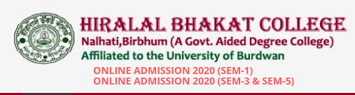 Nalhati Hiralal Bhakat College Merit List 2021 Admission BA BSc Honours General