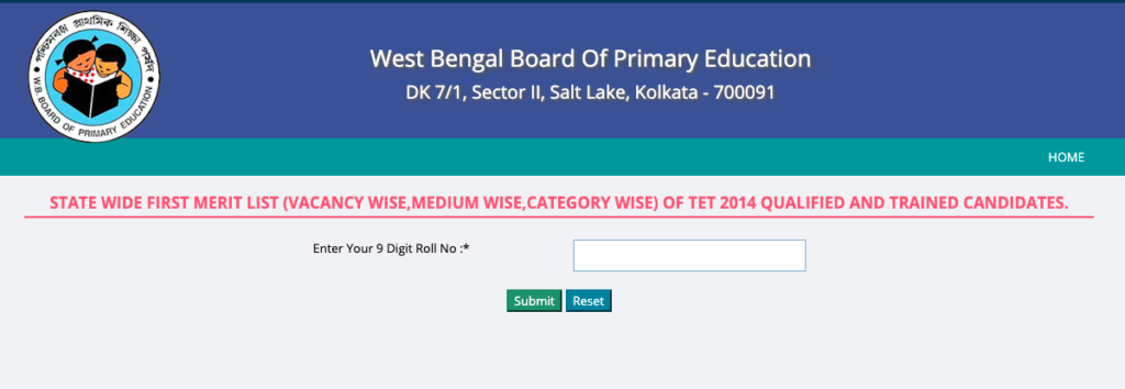 wb primary tet 2021 merit list download first panel list of interview