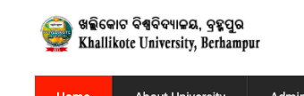 Khallikote University Admit Card 2021 Semester 1st 2nd 3rd 4th 5th 6th