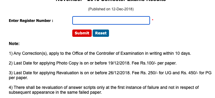 step by step process to check dkm college result