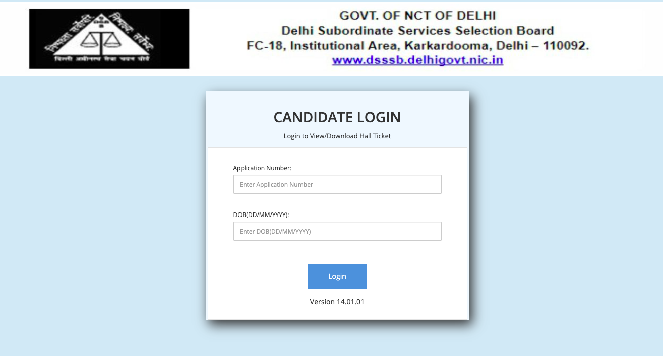 DSSSB JE Admit Card 2021 (OUT) Exam Date Junior Engineer Civil Electrical