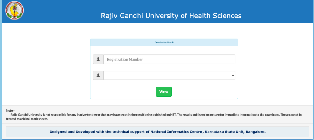 window to check result for semester exam at rguhs.ac.in and gnanasangama.karnataka.gov.in/rguresult/