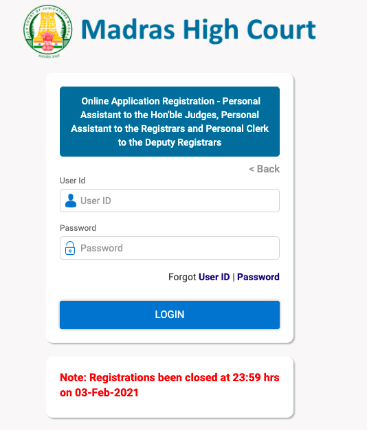 window to download mhc office assistant hall ticket online 2021 through user id & password