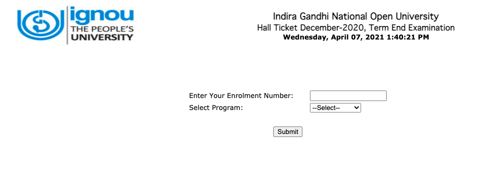 IGNOU Admit Card 2021 {Out} Download Hall Ticket for UG PG Courses