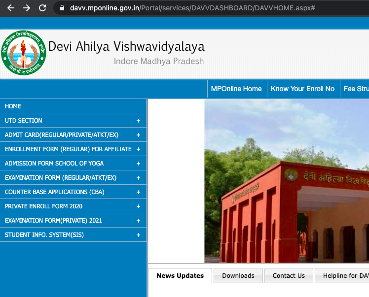 mponline portal for students