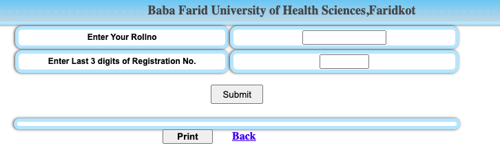 bfuhs.ac.in result checking window for mbbs prof 1st 2nd 3rd year exam bsc nursing