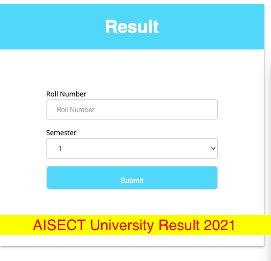 Download AISECT University Result 2021